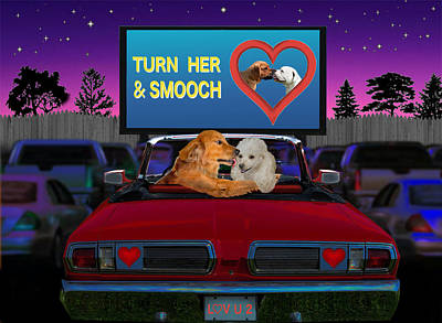 Digital Art - Turn Her And Smooch by Glenn Holbrook