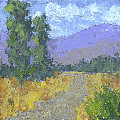 Painting - Turn Left At The Poplars by David King