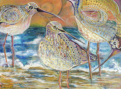 Painting - Turning Of The Tides by Leela Payne