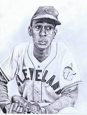 Satchel Paige Drawing - Turn The Paige Stachel Paige by Paul Smutylo