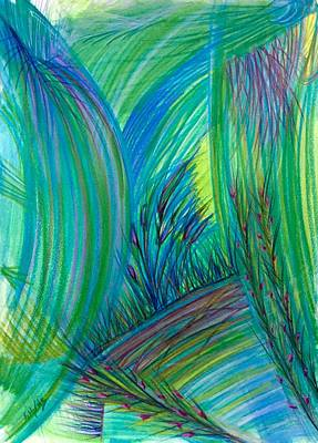 Abstract Movement Drawing - 'turn Things Upside Down' by Kelly K H B