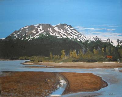 Art Print featuring the painting Turnagain Arm Alaska by Betty-Anne McDonald