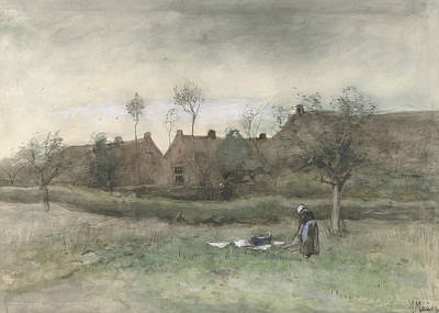 Mauve Painting - Turned Out Field by Anton Mauve