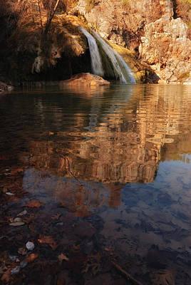 Turner Falls Autumn Reflections Art Print by Iris Greenwell