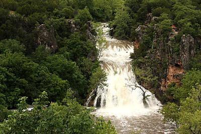 Turner Falls Waterfall Art Print