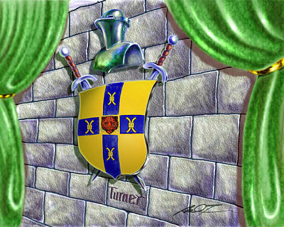 Painting - Turner Family Crest by Dale Turner