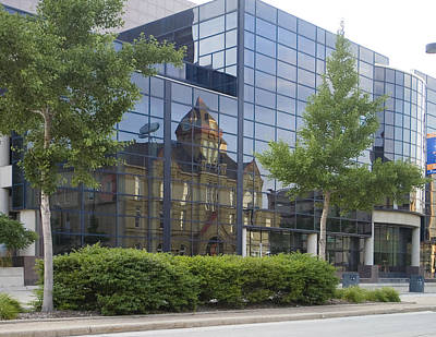 Photograph - Turner Hall Reflection by Peter Skiba