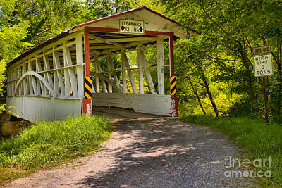 Photograph - Turners Covered Bridge Of Bedford County by Adam Jewell