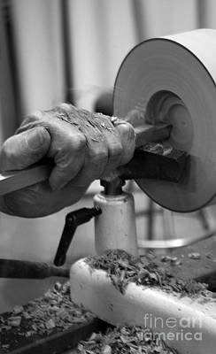 Wood Turning Photograph - Turning A Bowl by Skip Willits