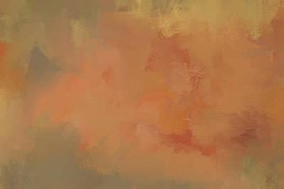 Simple Abstract Art Painting - Turning Autumn Abstract Painting by Jai Johnson
