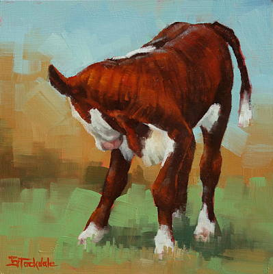 Painting - Turning Calf by Margaret Stockdale