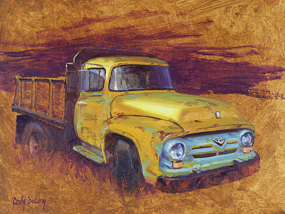 Truck Painting - Turning Into The Light by Cody DeLong