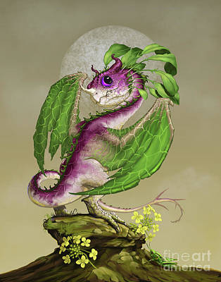 Cricket Digital Art - Turnip Dragon by Stanley Morrison