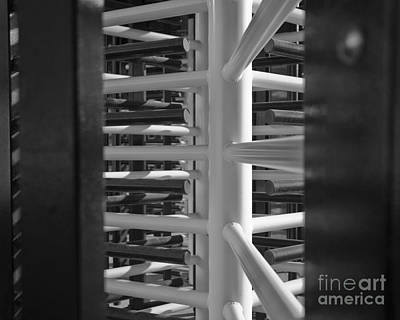 Photograph - Turnstiles Black And White by Terri Waters