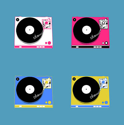 Digital Art - Turntable Pop Art 2 by Bekim Art