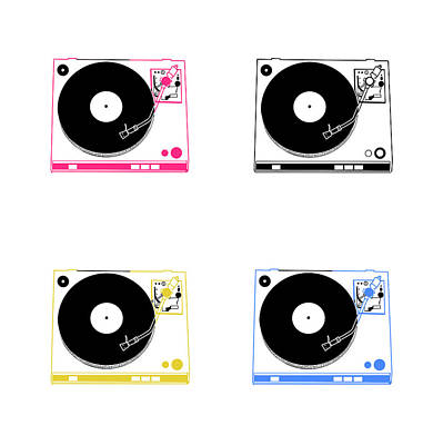 Digital Art - Turntable Pop Art by Bekim Art