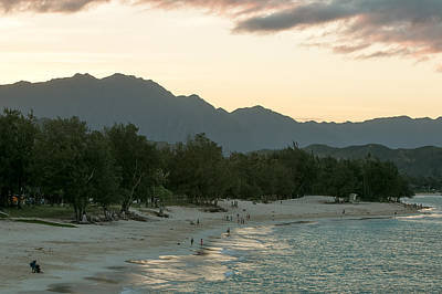 Photograph - Turquiose Kailua Bay With Beach Shimmers by E Faithe Lester