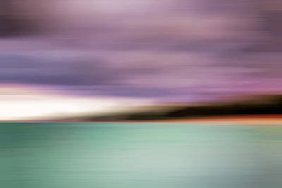 Abstract Beach Landscape Photograph - Turquoise Waters Blurred Abstract by Adam Romanowicz
