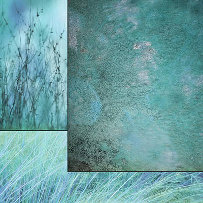 Mixed Media - Turquoise Textures by Lori Deiter