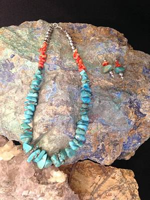 Silver Turquoise Mixed Media - Turquoise # S28 by Barbara Prestridge