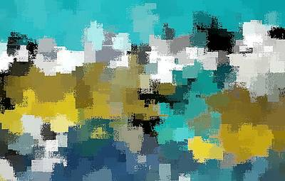 Digital Art - Turquoise And Gold by David Manlove