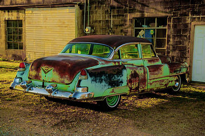 Photograph - Turquoise And Lime Antique Car by Douglas Barnett