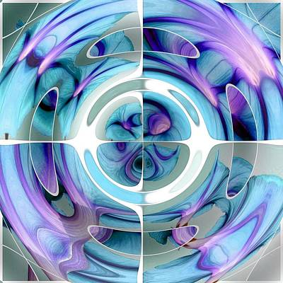 Painting - Turquoise And Purple Abstract Collage by Tracey Harrington-Simpson
