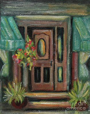 Painting - Turquoise Awning And Door by Pati Pelz