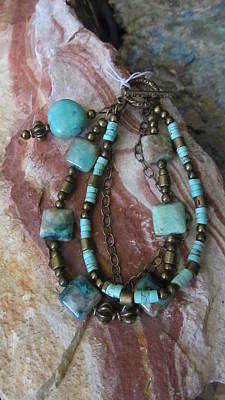 Jewelry - Turquoise #b006 by Barbara Prestridge