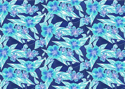 Digital Art - Turquoise Batik Ginger Small by Karen Dyson