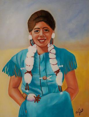 Native American Painting - Turquoise Beauty by Joni McPherson