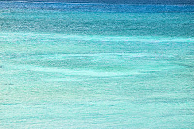 Turquoise Blue Carribean Water Art Print by James Forte