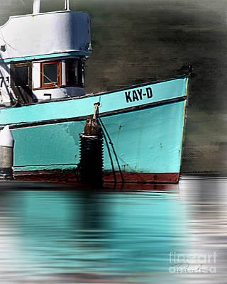 Photograph - Turquoise Boat by Danuta Bennett
