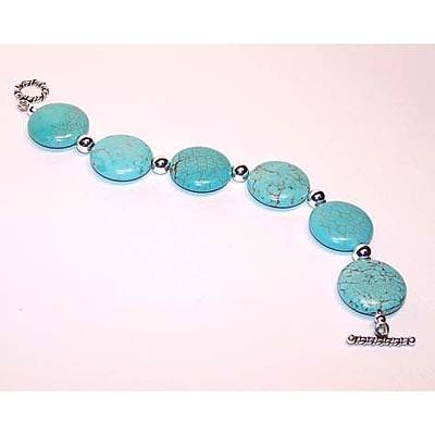 Sterling Silver Bracelet Jewelry - Turquoise Bracelet by Kelly DuPrat
