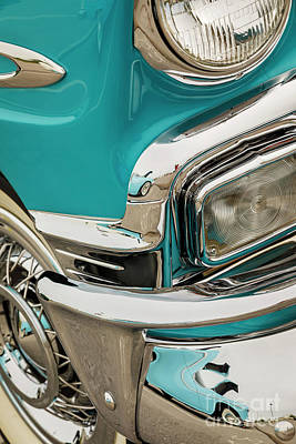 Photograph - Turquoise Chevy by Dennis Hedberg