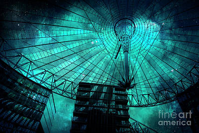 Photograph - Turquoise Cosmic Berlin by Brenda Kean