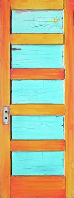 Landmarks Painting Royalty Free Images - Turquoise Desert Door Royalty-Free Image by Asha Carolyn Young