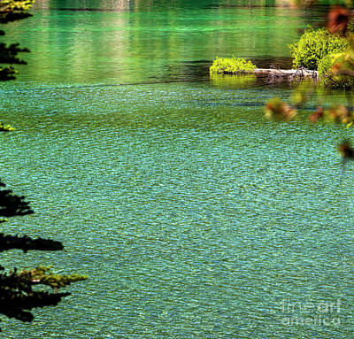 Photograph - Turquoise Devil's Lake Oregon by David Millenheft