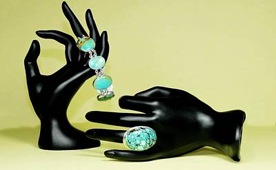 Sterling Silver Bracelet Photograph - Turquoise  by Diana Angstadt