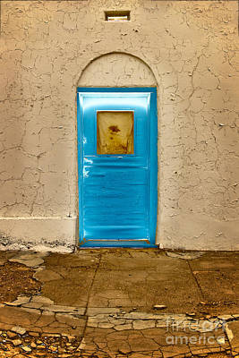 Photograph - Turquoise Door by Craig J Satterlee