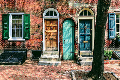 Photograph - Turquoise Door by Eric Schaeffer