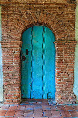 Canon 6d Photograph - Turquoise Door by Thomas Hall