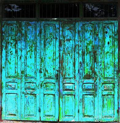 Photograph - Turquoise Doors by Ethna Gillespie