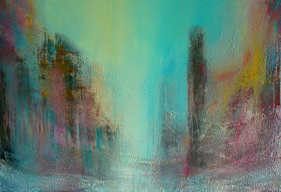 Turquoise Evening Art Print by Denise Cloutier