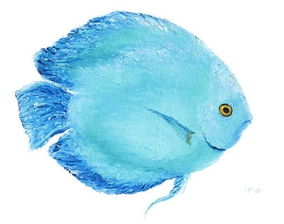 Painting - Turquoise Fish Painting by Jan Matson