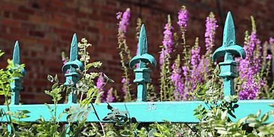 Pantone Photograph - Turquoise Fleur De Lis, Quebec City by Brooke T Ryan