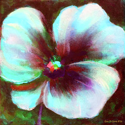 Painting - Turquoise Flower 22 by Gina De Gorna