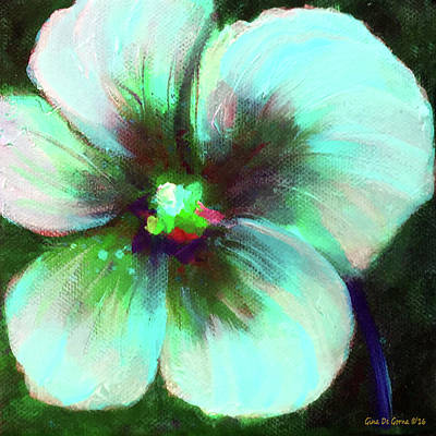 Painting - Turquoise Flower by Gina De Gorna
