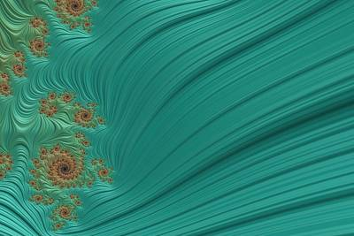 Digital Art - Turquoise Fractal4 by Bonnie Bruno