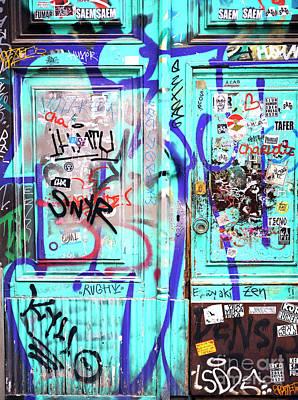 Photograph - Turquoise Graffiti Barcelona by John Rizzuto